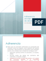 Adherencia, Anclaje y Longitud de Desarrollo