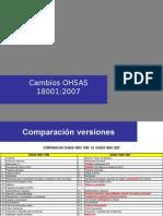 Cambios OHSAS 18001 2007