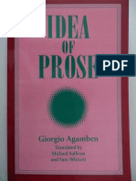 Agamben - Idea of Prose