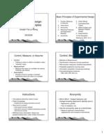 Experimental Method1 BasicDesignPrinciples