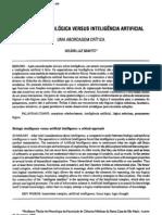 Inteligencia Biologica Versus Intelegencia Artificial