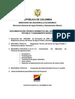 Normas Minima de Acometidas Ras 2000 Resolucion No 1096