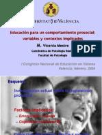 Educacion Para Un Comportamiento Prosocial Variables y Contextos Implicados