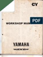Yamaha RX G Service Manual