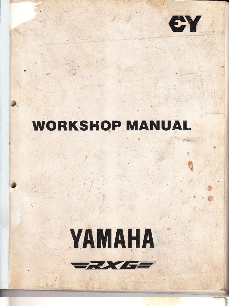 yamaha rx g service manual piston tire rh scribd com yamaha rxz 135 manual yamaha rxz 135 manual