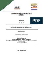 i Informe Monitoreo Proyecto Reciclaje Mayo 2012