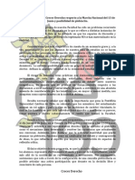 Declaración Pública Crecer Derecho respecto a la Marcha Nacional del 13 de Junio y posibilidad de plebiscito.