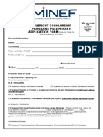 2014 Fulbright MA, Ph.D & DDR Application Form & Ref. Letter