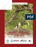 Biodiversity Conservation and Sustainable Development as They See It
