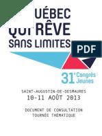 Document de Consultation 2013