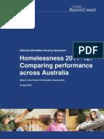 COAG Reform Council homelessness report