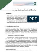 Lectura 8- Integración, interpretación  y aplicación del derecho