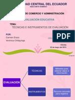 EXPOSICIÓN DE TÉCNICAS DE EVALUACIÓN