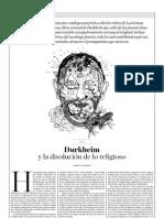 109234562 Durkheim y La Disolucion de Lo Religioso Jorge Ramirez