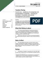 Tax Ruling 2004/15 Company
