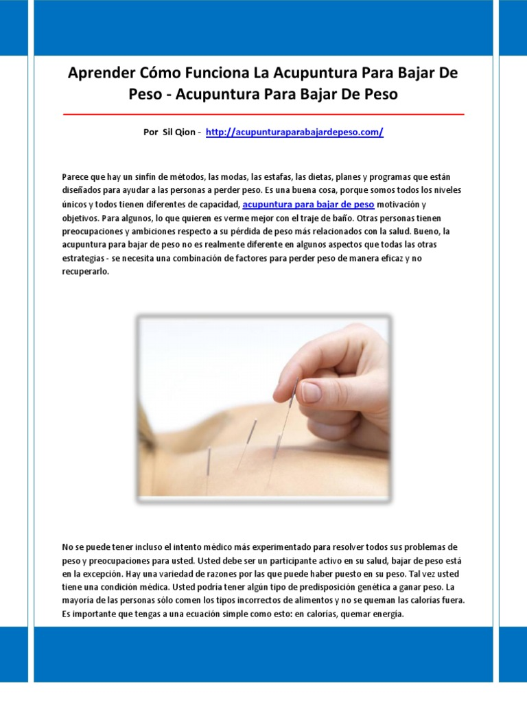 Auriculoterapia para bajar de peso en chile
