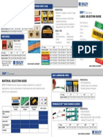 BMP21 Printer Label Selection Guide Insert Packaging
