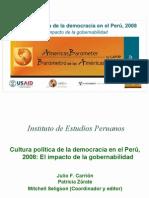 Cultura política de la democracia en el Perú 2008