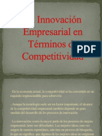 La Innovación Empresarial en Términos de Competitividad