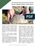 Descoperiri arheologice la Rogojeni, Buletinul, Compact Moldova, mai, Chișinău 2013