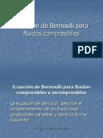 Ecuación de Bernoulli para fluidos compresibles