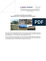 Initial Case Studies - Agricultural and Food Policy Analysis (ENG); ISET
