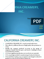 California Creamery ( Presentation on ABC Costing Method)