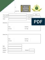 Formulir Registrasi KSE Lengkap