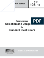 SDI_108 - Standard Steel Doors and Frames