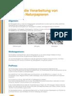 Verarbeitung Von Hlozfreien Naturpapieren