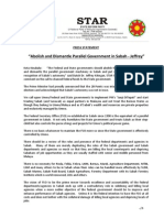 PressRelease-2013-Abolish and Dismantle Parallel Govt in Sabah
