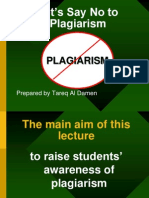 Let's Say No to Plagiarism (1)