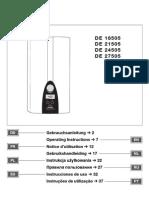 SIEMENS-Haushaltgeräte, Durchlauferhitzer E-Nr. DE27505_01, FD 8507, 23.06.2005, Gebrauchsanleitung, 2004