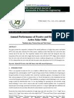 Annual Performance of Passive and Hybrid Solar Stills