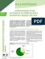 Chiffres et stats 290 Prélèvements d'eau en France en 2009 - février 2012