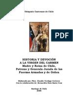 Historia y Devocion a la Virgen Del Carmen, Obispado Castrense, Chile