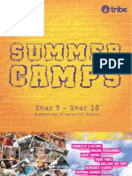 Tribe Summer Camp Brochure