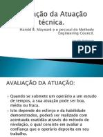 Avaliação da Atuação técnica 07.11.2012