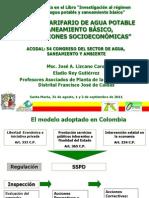 El Regimen Tarifario de Agua Potable - Jose Lizcano y Eladio Rey 02.09.11