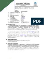 SÍLABO DE DIDÁCTICA DE LA COMUNICACIÓN I