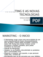 Marketing e as Novas Tecnologias