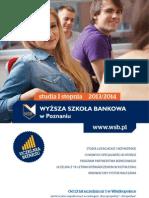Informator 2013 - studia I stopnia - Wyższa Szkoła Bankowa w Poznaniu