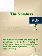 Origination of  Number
