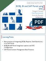 2103 Integrating BOBJ BI and SAP Portal Using SNC