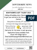 Bowthorpe News June 2013