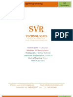 C Online Training Course SVR Technologies