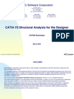 Catia v5 Structural Analysis for the Designer