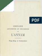 Histoire Ancienne & Moderne de l'Annam Vol.1 depuis l'année 2700 avant Christ - Abbé Adrien Launay(1884)