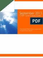 Sept 2013 Level II Study Guide