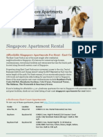 Singapore Apartment Rental - Affordable East Coast Condos